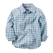 Carter's® Long-Sleeve Plaid Woven Shirt - Toddler Boys 2t-5t