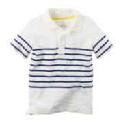 Carter's® Short-Sleeve Stripe Polo Shirt - Toddler Boys 2t-5t