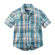 Carter's® Plaid Short-Sleeve Shirt - Toddler Boys 2t-5t
