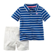 Carter's® 2-pc. Short-Sleeve Stripe Shirt and Shorts Set - Baby Boys newborn-24m
