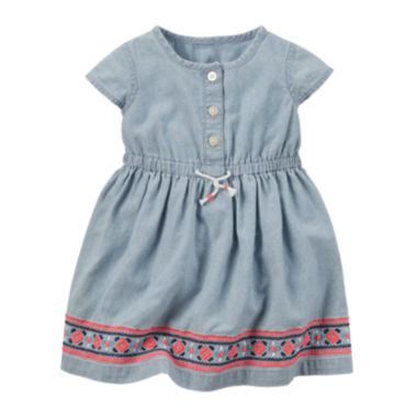 jcpenney.com | Carter's® Short-Sleeve Chambray Dress - Baby Girls newborn-24m