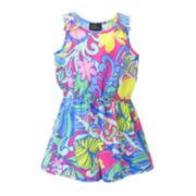 Lilt Sleeveless Floral-Print Romper - Toddler Girls 2t-4t