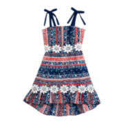 Rare Editions Sleeveless America Floral Dress - Preschool Girls 4-6x