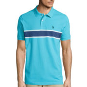 U.S. Polo Assn.® Short-Sleeve Engineered Stripe Cotton Polo