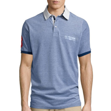 jcpenney.com | U.S. Polo Assn.® Short-Sleeve Two-Tone Pique Polo