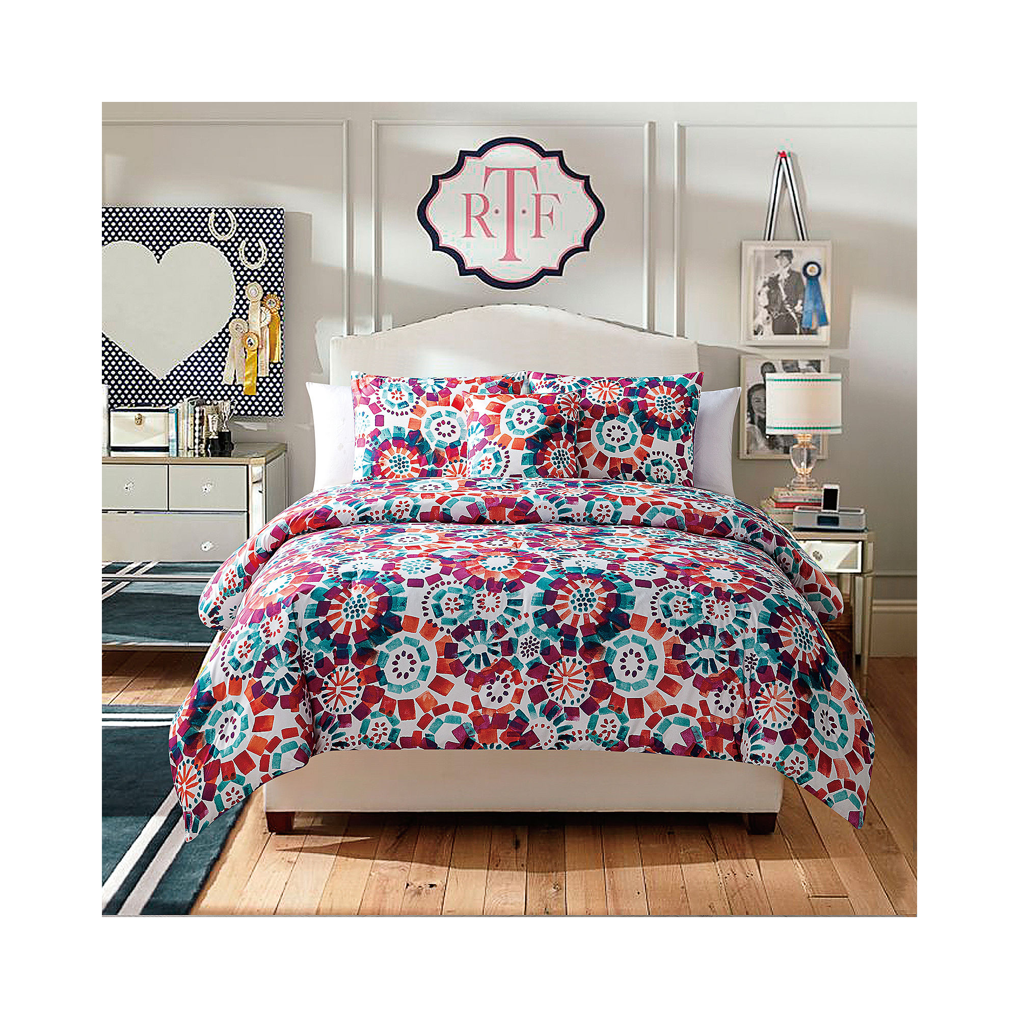 VCNY Fanfare 4-pc. Twin Reversible Floral Comforter Set