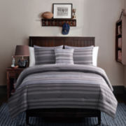 Victoria Classics Baxter 4-pc. Striped Reversible Comforter Set