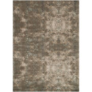 Loloi Journey Damask Indigo Blue Rectangular Rug