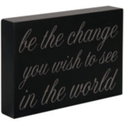 """Be the Change"" Sentimental Decorative Wooden Box"