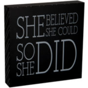 """She Believed"" Graduation Decorative Wooden Box"