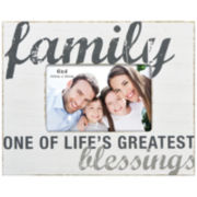 "Harbortown Family 4x6"" Rustic Picture Frame"