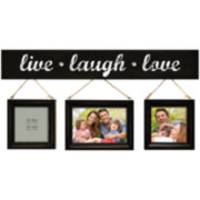 "Harbortown ""Live, Laugh, Love"" 3-Opening Collage Picture Frame"