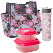 Fit & Fresh® Westport Lunch Box Kit - Pink Aqua Paisley