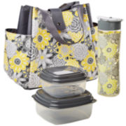 Fit & Fresh® Westport Lunch Box Kit - Yellow Happy Floral