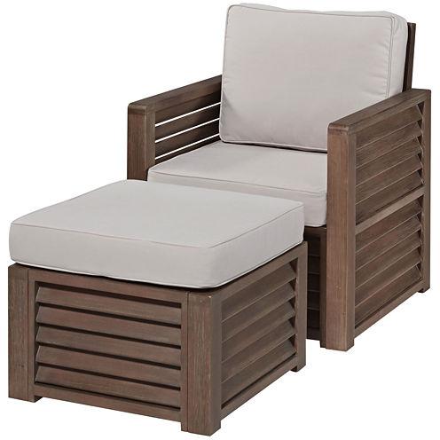 Wayne Chair and Ottoman