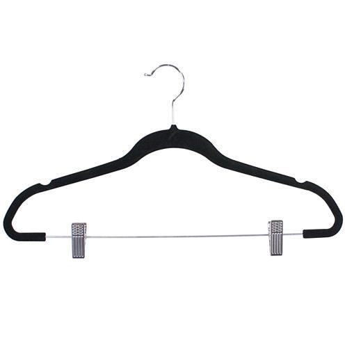 Home Basics 5-Pack Non-Slip Velvet Hanger with Clips