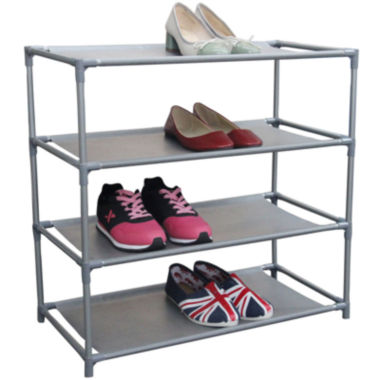 jcpenney.com | Home Basics 12-Pair Metal Shoe Shelf