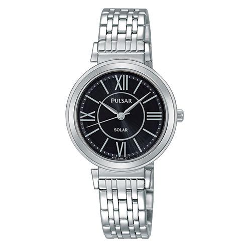 Pulsar Womens Silver Tone Bracelet Watch-Py5027