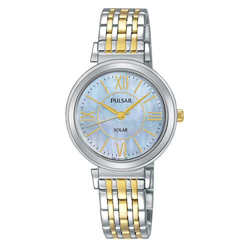 Pulsar Womens Two Tone Bracelet Watch-Py5029
