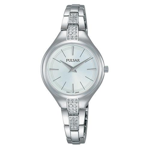 Pulsar Womens Silver Tone Bracelet Watch-Pm2239