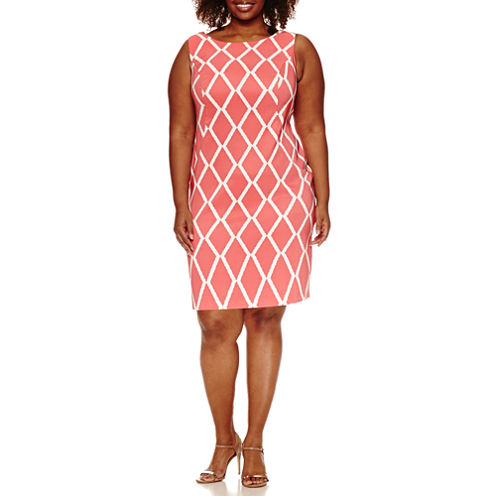 Alyx Sleeveless Diamond Sheath Dress-Plus