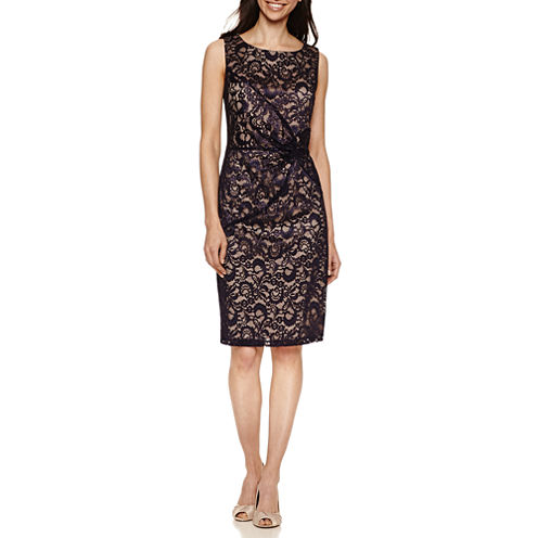 Scarlett Sleeveless Pattern Sheath Dress