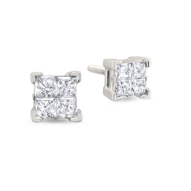 jcpenney.com | 1 CT. T.W. Princess White Diamond 14K Gold Stud Earrings