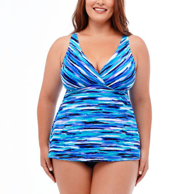 jcpenney.com | Jamaica Bay® Artist's Stripe Tankini Swim Top or Ruffle Hem Skirt Swim Bottoms