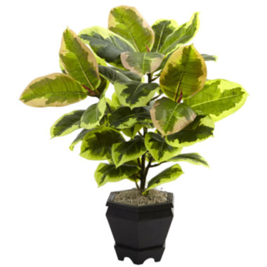 "jcpenney.com | 22"" Variegated Rubber Leaf Artificial Plant"