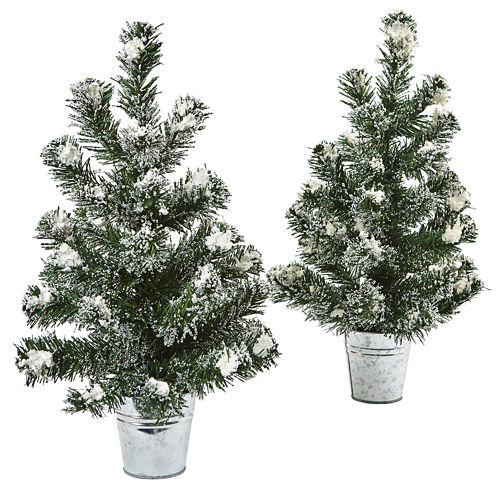 "18"" Snowy Pine Tree Artificial Plant"