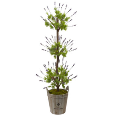 "jcpenney.com | 50"" Lavender Topiary Artificial Plant"