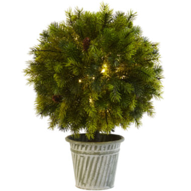 "jcpenney.com | 18"" Pine Ball Artificial Plant"