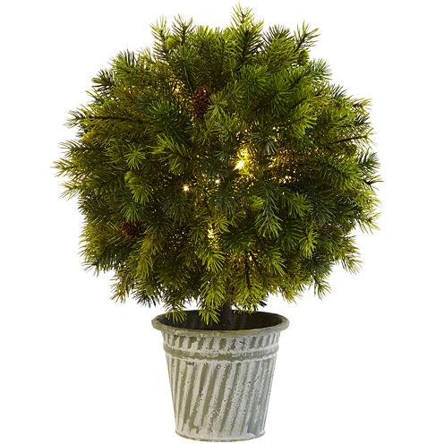 "18"" Pine Ball Artificial Plant"