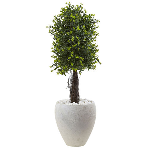"40"" Ixora Topiary Artificial Plant"