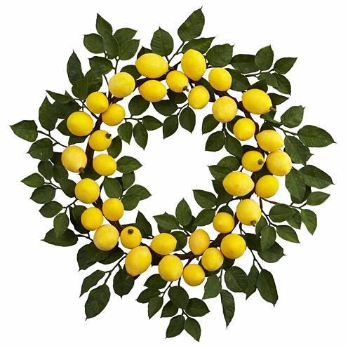 "24"" Lemon Wreath"