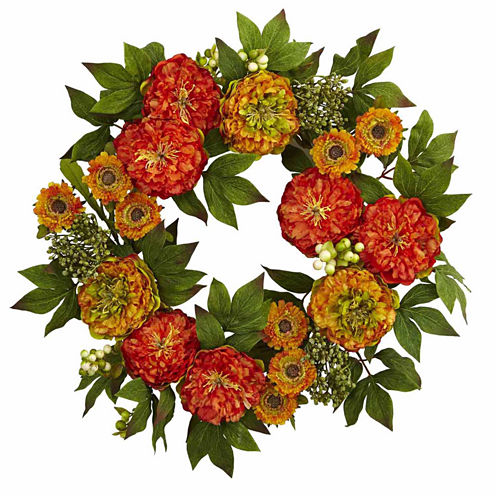 "24"" Peony Mum Wreath"