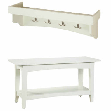 jcpenney.com | Shaker Tray Shelf Coat Hook with Bench Set