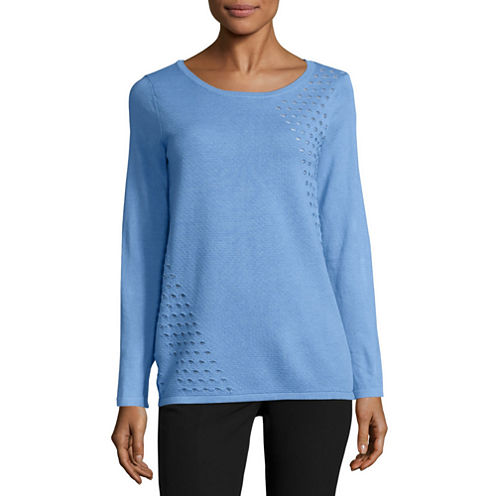 Worthington Long Sleeve Pullover Sweater