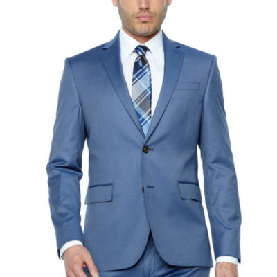 Jf J.Ferrar Light Blue Twill Super Slim Fit Suit Jacket by Jf J.Ferrar