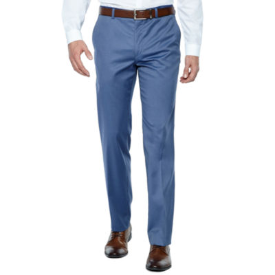 Jf J.Ferrar Light Blue Twill Stretch Super Slim Fit Suit Pants by Jf J.Ferrar