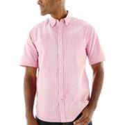 St. John's Bay® Short-Sleeve Easy-Care Oxford Shirt