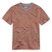 Arizona Short-Sleeve Striped Knit V-Neck Tee – Boys 8-20 and Husky