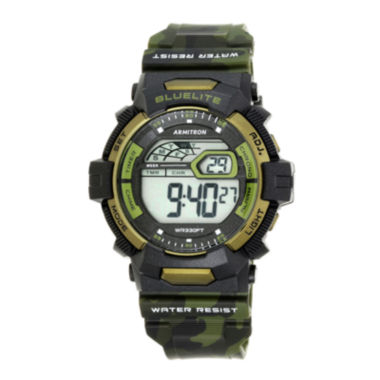 jcpenney.com | Armitron® Mens Green Camo Digital Strap Watch