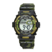 Armitron® Mens Green Camo Digital Strap Watch