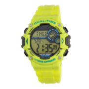 Armitron® Mens Yellow Chronograph Digital Sport Watch