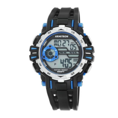 jcpenney.com | Armitron® Mens Black and Blue Accent Chronograph Digital Sport Watch