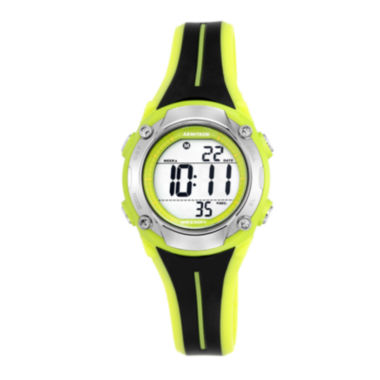jcpenney.com | Armitron® Black and Lime Digital Chronograph Sport Watch