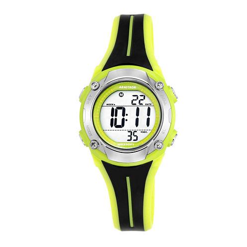 Armitron® Black and Lime Digital Chronograph Sport Watch