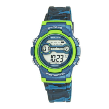 jcpenney.com | Armitron® Blue and Lime Digital Chronograph Sport Watch