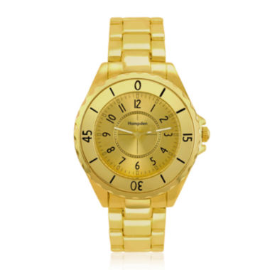 jcpenney.com | Hampden Mens Gold-Tone Personalized Bracelet Watch